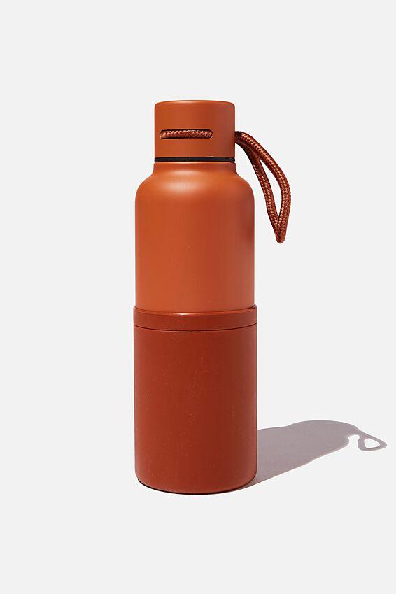 The Loop Metal Drink Bottle, RUST
