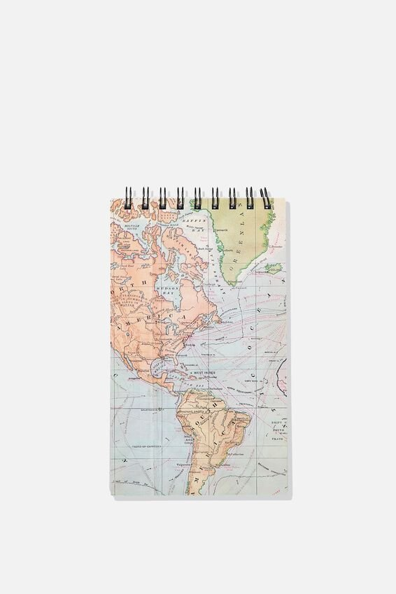 Flipout Notepad, GREY MAP