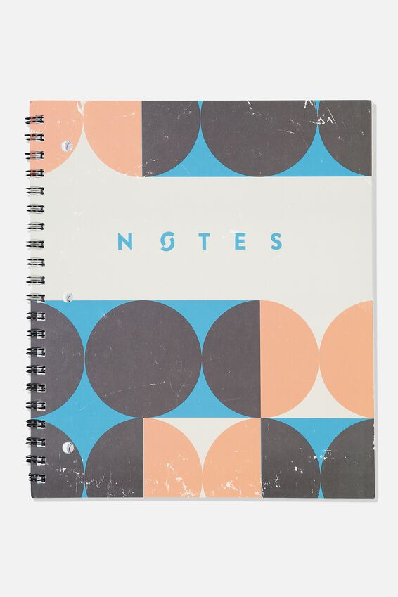 College Ruled Campus Notebook - V, CIRCLE NOTES