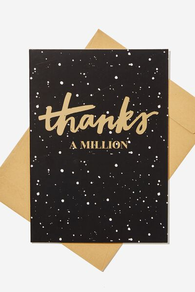 Thank You Card, THANKS A MILLION