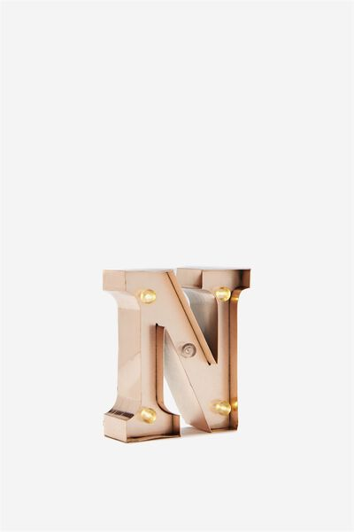 Mini Marquee Letters 10Cm, ROSE GOLD N