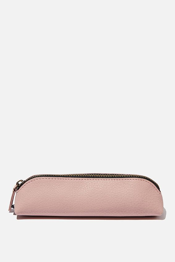 Buffalo Barrel Pencil Case, NUDE PINK