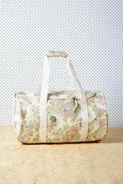 Explorer Duffle Bag, MINT PINK MOLLY FLORAL