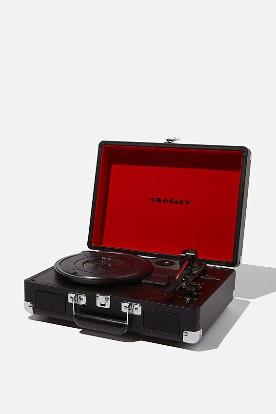Crosley Record Player, BLACK