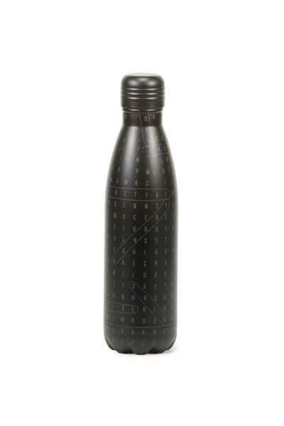 Metal Drink Bottle, CROSS WORD