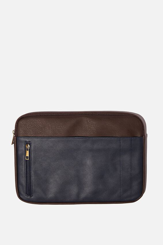 Take Charge Laptop Cover 13 inch, BITTER CHOC & NAVY