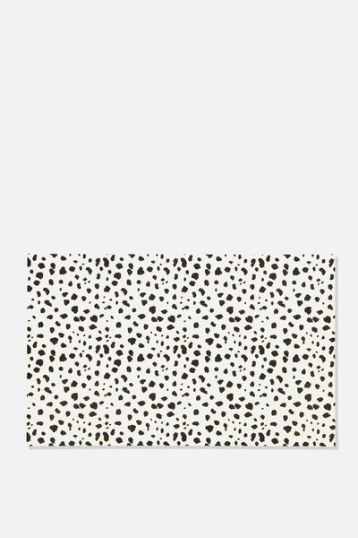 Pet Printed Food Mat, BLACK SPOT