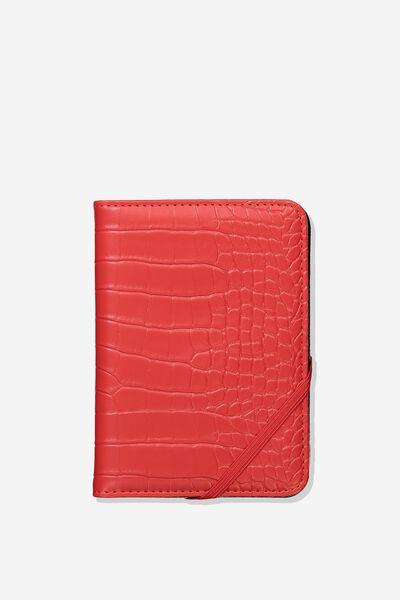 Rfid Passport Holder, RED CROC