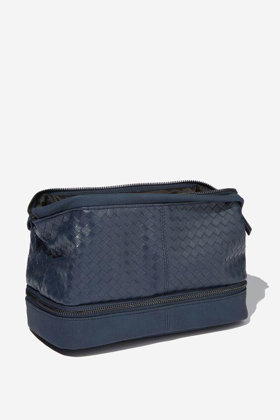 Debonair Wash Bag, NAVY WEAVE