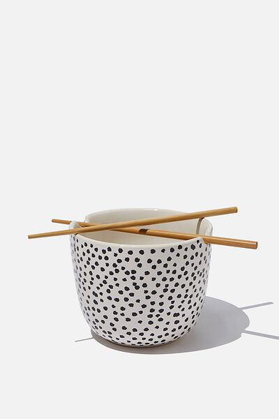 Novelty Noodle Bowl, BLACK & WHITE SPOT
