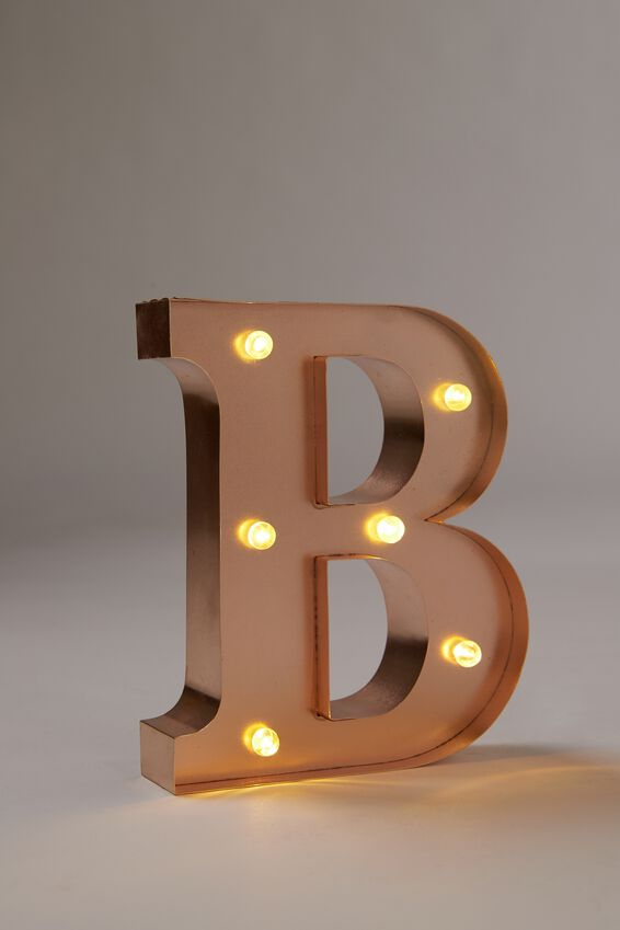 "Marquee Letter Lights Premium 6.3"" Midi, ROSE GOLD B"
