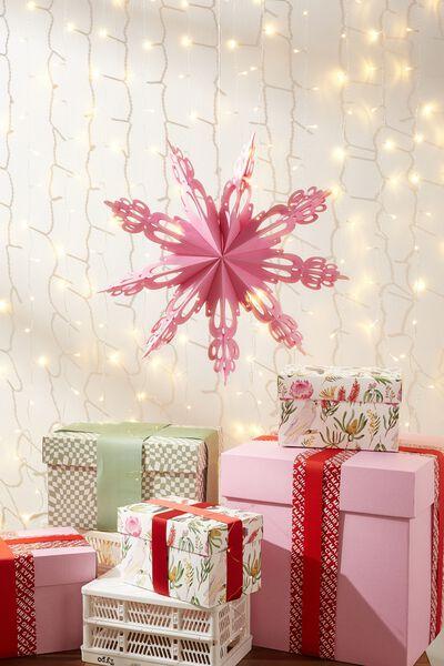 Paper Snowflake Decoration, PINK