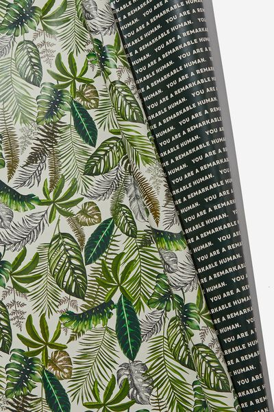 Double Sided Roll Wrap, FOLIAGE REMARKABLE HUMAN