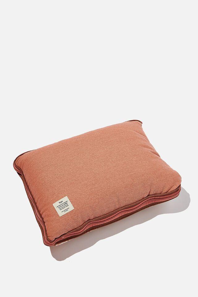Convertible Cushion Throw, CHECKERBOARD DAISY CLAY