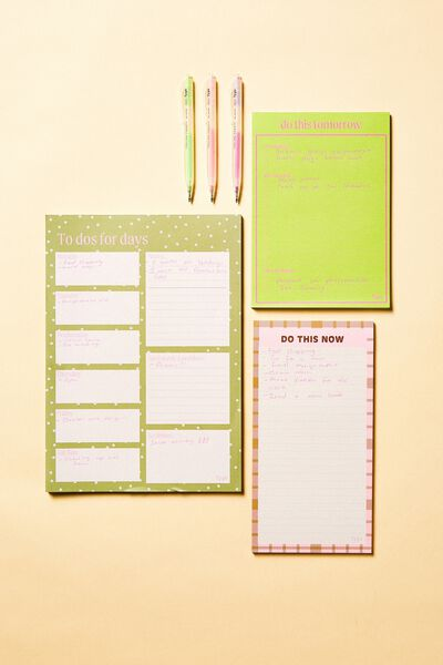 Make A List 3Pk, DAISY KHAKI