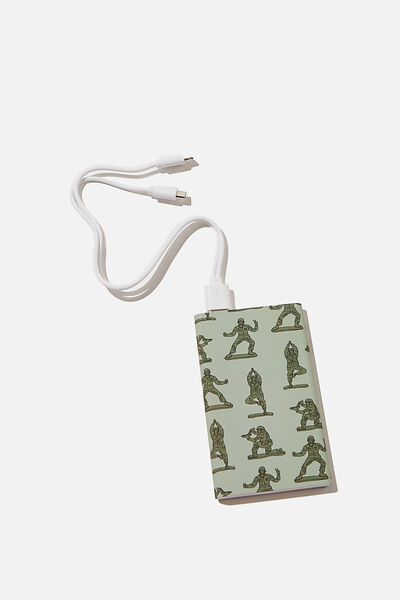 Printed Charge It Charger, ARMY YARDAGE