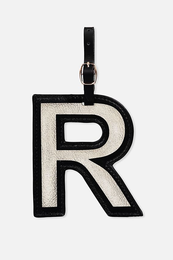 Shaped Alphabet Luggage Tag, R
