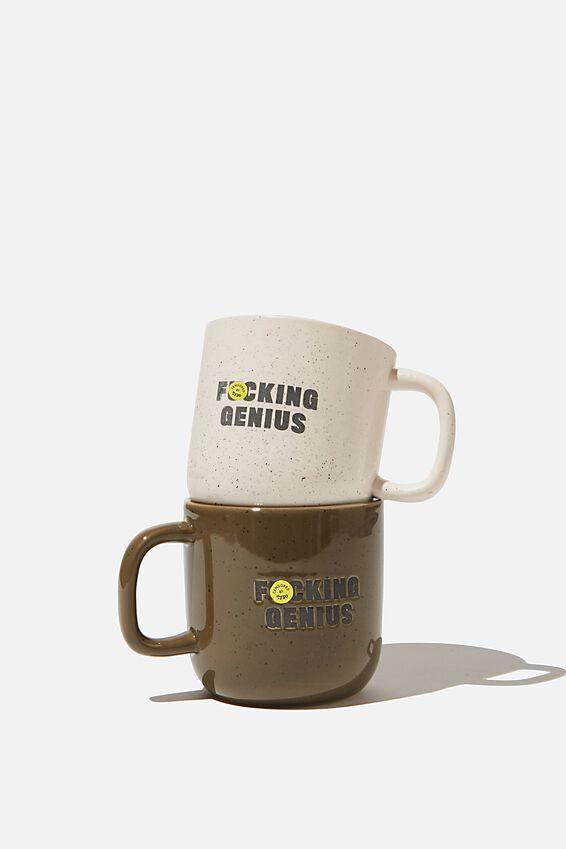2Pk Mug Set, F###ING GENIUS!!