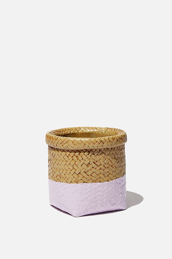 Small Shaped Planter, RATTAN BASKET