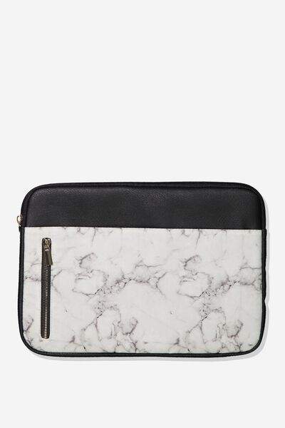 Take Charge Laptop Cover 13 inch, WHITE MARBLE