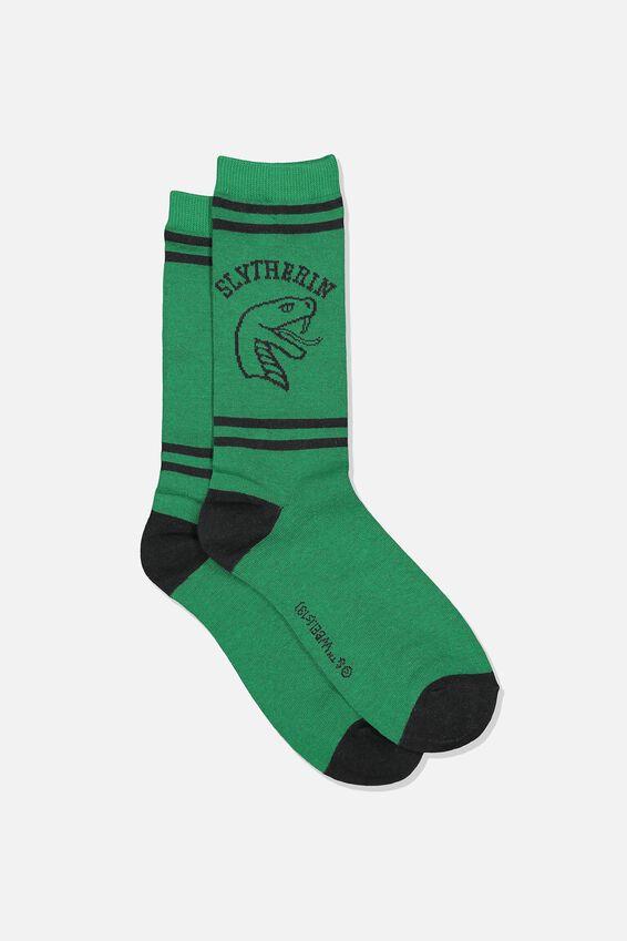 Harry Potter Mens Novelty Socks, LCN WB SLYTHERIN HOUSE