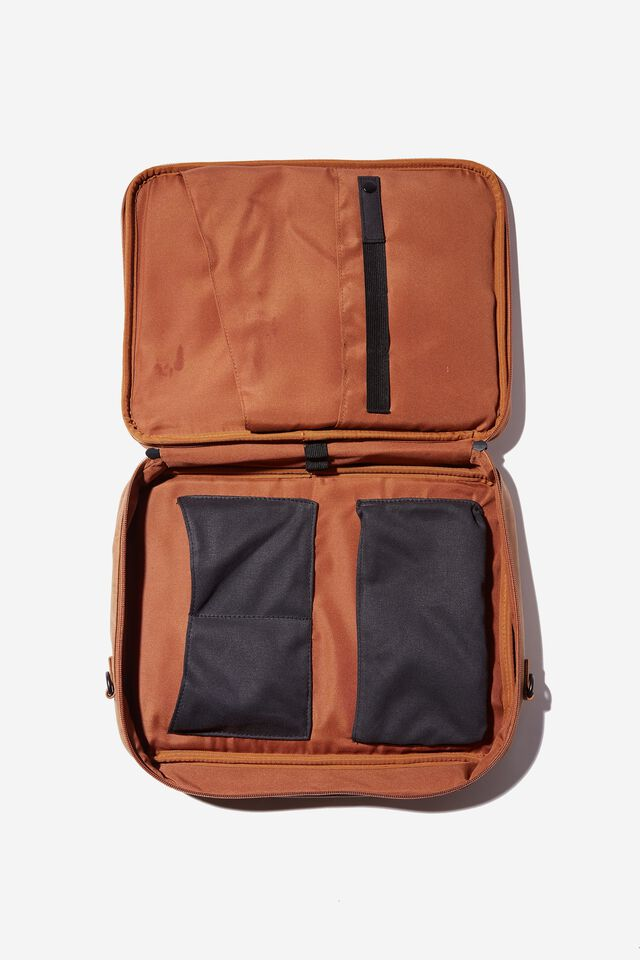 Commute Laptop Case 13 Inch, MID TAN WITH WASHED BLACK