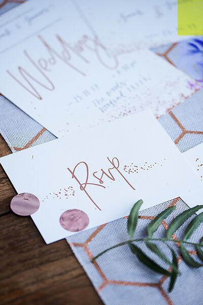 Rsvp Post Cards 10 Pk, ROSE GOLD