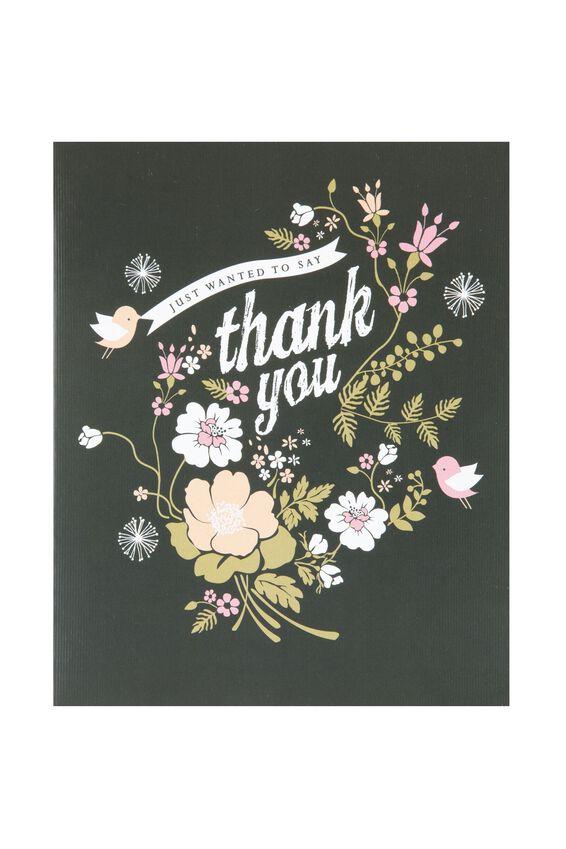 Thank You Card, TY-PRETTY BIRD