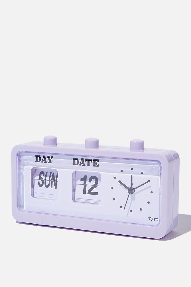 Retro Flip Clock, PALE LILAC