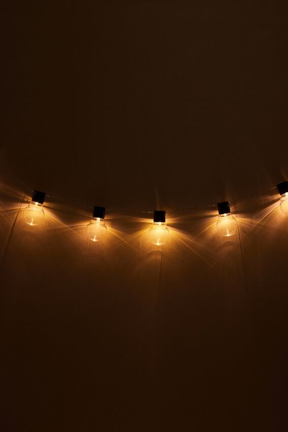 Festoon String Light, CLEAR BULBS