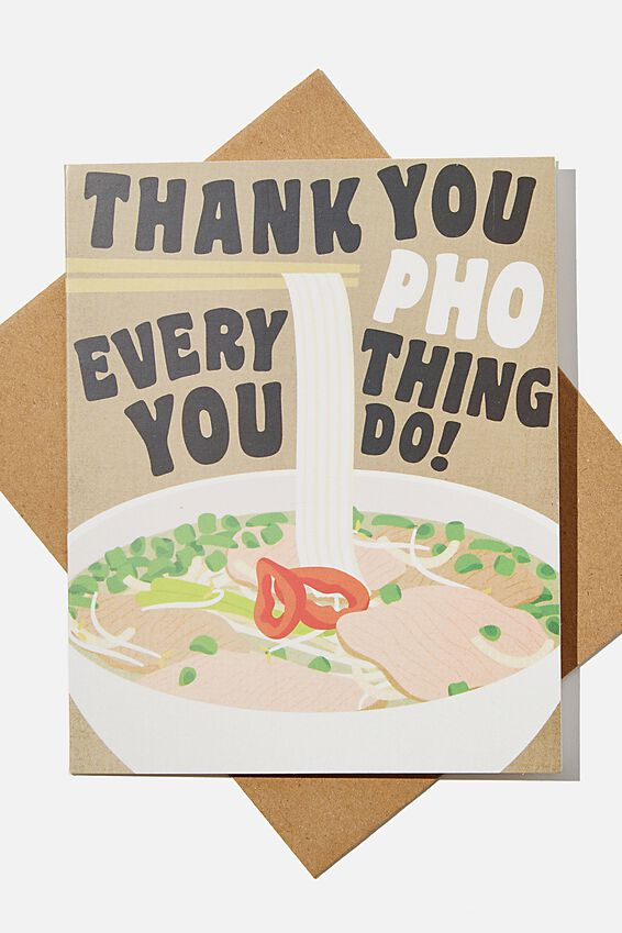 Thank You Card, RG ASIA MADE PHO YOU