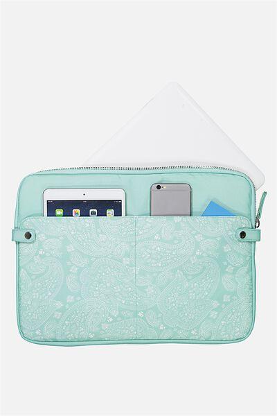 Varsity Laptop Case 15 Inch, AQUA LACE