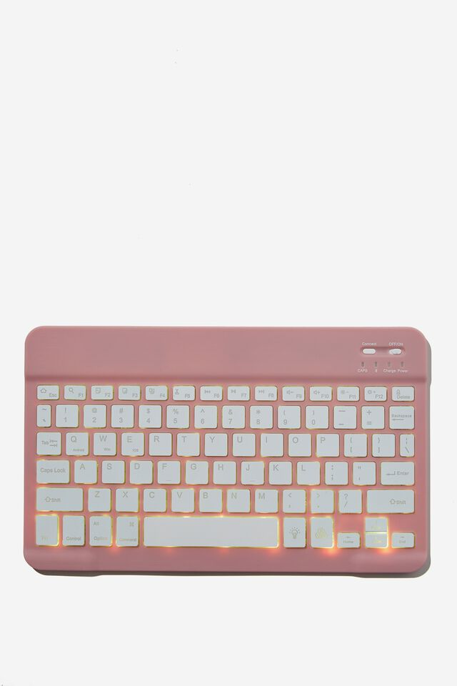 Led Wireless Keyboard 10 Inch, DUSTY LILAC
