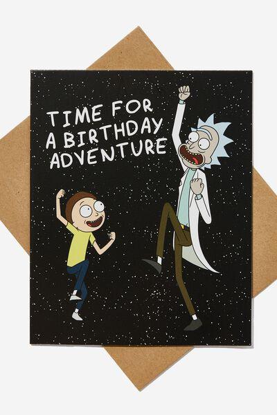 Funny Birthday Card, LCN CNW RICK AND MORTY BIRTHDAY ADVENTURE