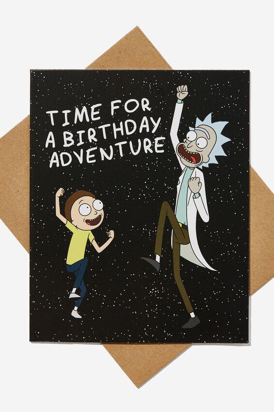 Rick & Morty Funny Birthday Card, LCN CNW RICK AND MORTY BIRTHDAY ADVENTURE