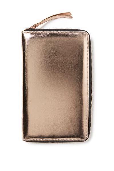 First Class Travel Wallet, ROSE GOLD