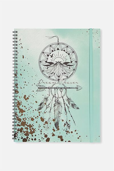 A4 Spinout Notebook - 120 Pages, DREAM CATCHER