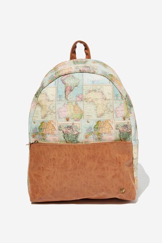 Scholar Backpack, WORLD MAP