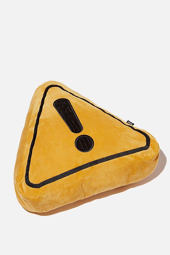 Get Cushy Cushion, WARNING SYMBOL