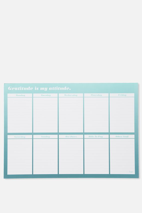 A3 Plan Ahead Planner, TEAL OMBRE