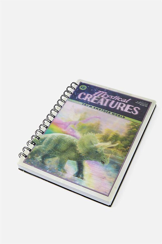 A5 Lenticular Notebook, MYSTICAL CREATURES