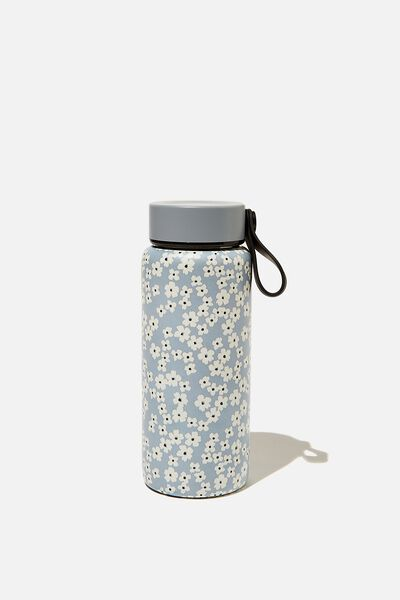 On The Move Metal Drink Bottle 350Ml, CHERRY BLOSSOM GREY