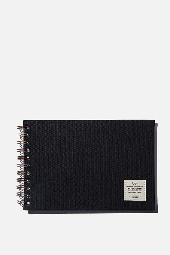 A5 Spiral Sketch Book, BLACK