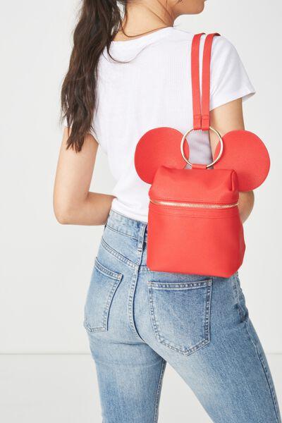 Micro Backpack, LCN ROUGE MICKEY EARS