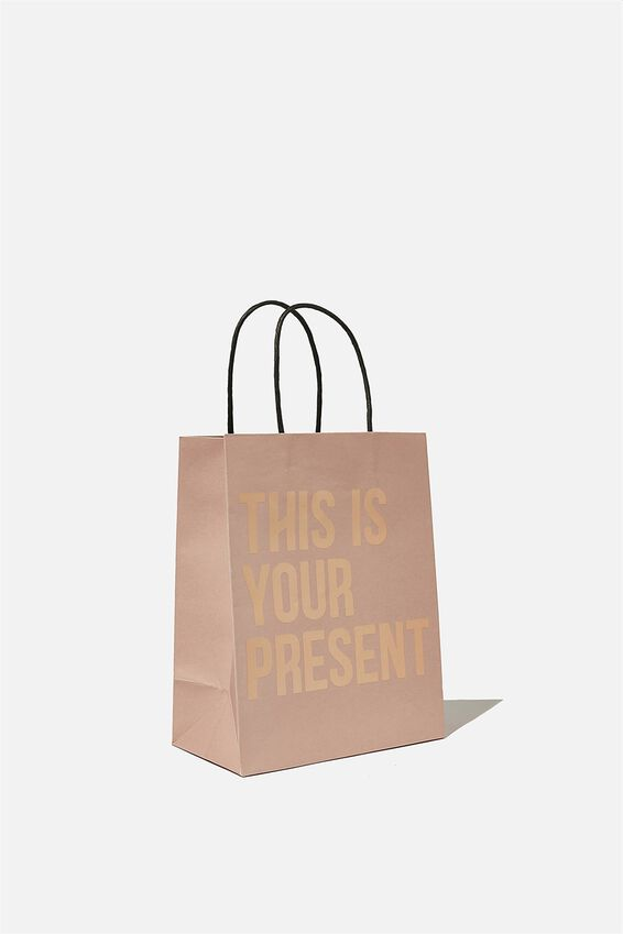 Get Stuffed Gift Bag - Small, THIS IS YOUR PRESENT PINK
