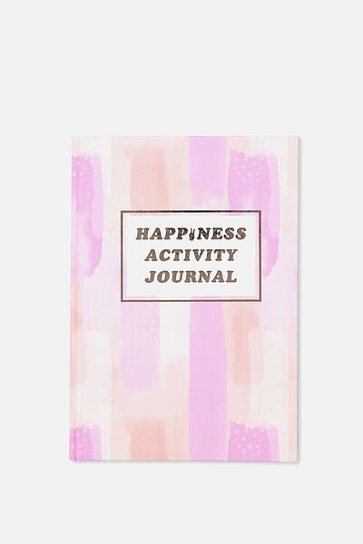 Activity Time Journal A5, HAPPINESS PEACH PAINTED