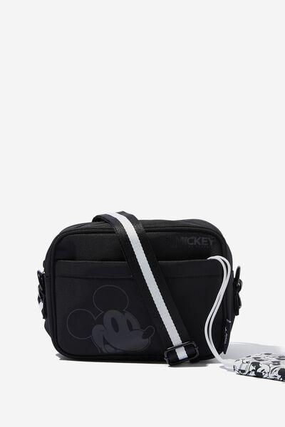 In Charge Crossbody Bag, LCN DIS MICKEY HEAD BLACK