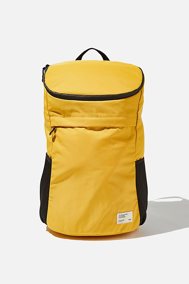 Utility Recycled Backpack, MUSTARD AND KHAKI