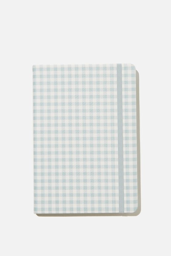 A5 Buffalo Journal, PR GINGHAM HYACINTH