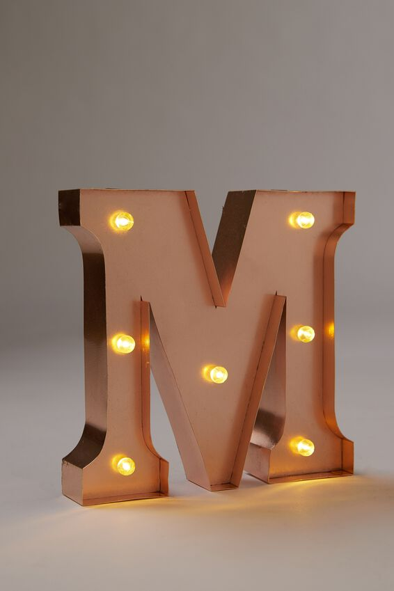 Marquee Letter Lights Premium 6.3inch Midi, ROSE GOLD M